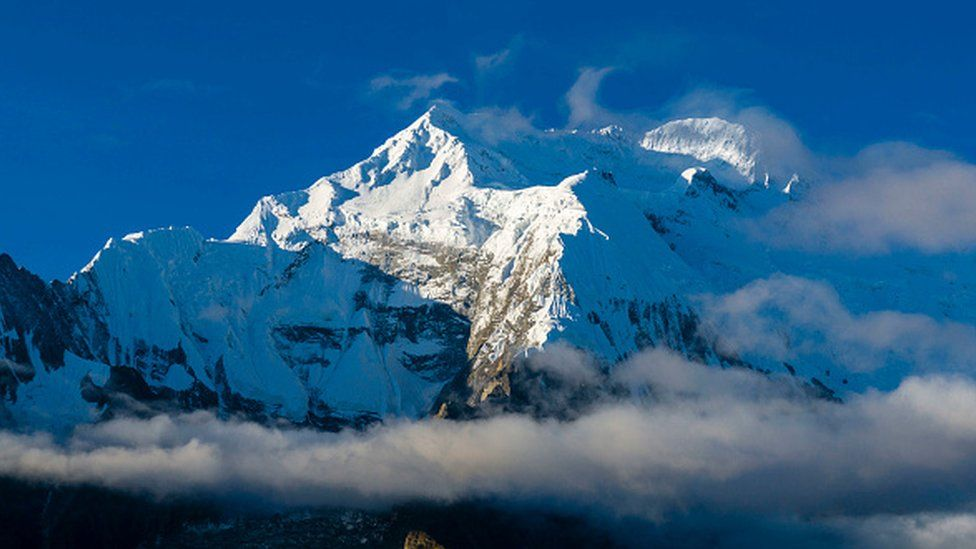 The snow-capped Annapurna mountain in Nepal