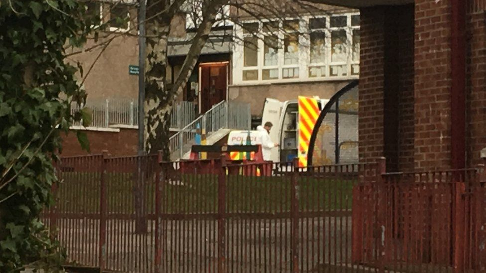 The body was found at Our Lady of the Rosary Primary School