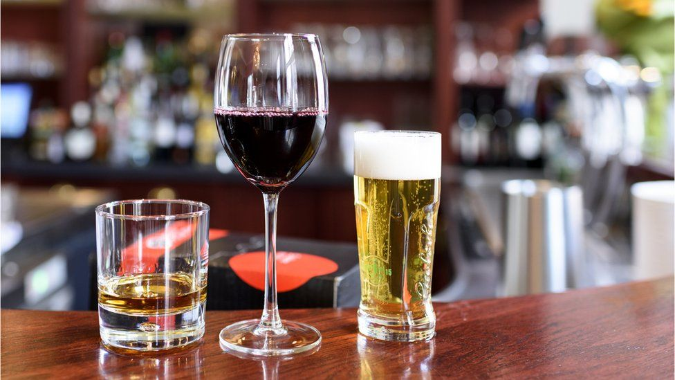 Spirits, wine and beer