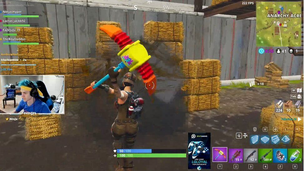 Fortnite: 13-year-old is game's youngest professional player - BBC News