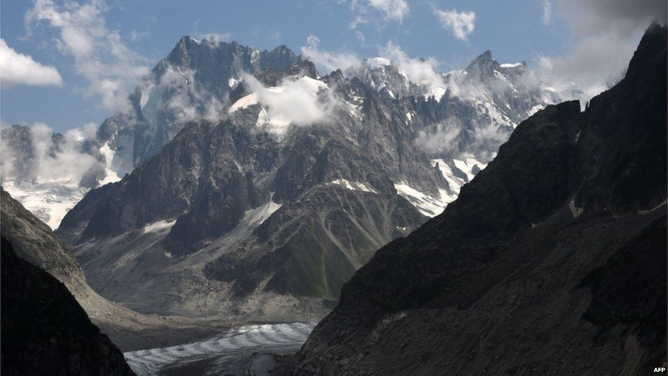 Les Grandes Jorasses in French Alps