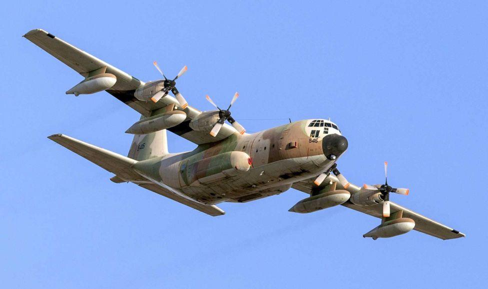 Israeli C130 Hercules aircraft