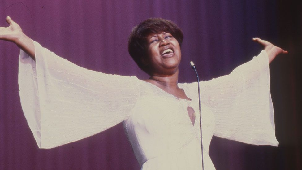 Aretha Franklin at the Royal Variety Performance in 1980