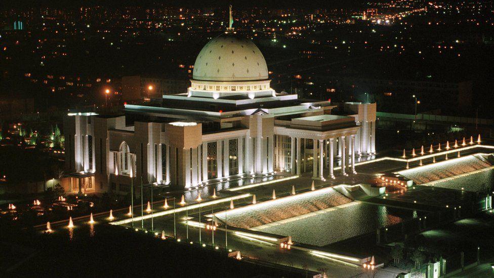 Presidential palace in Ashgabat - undated photo