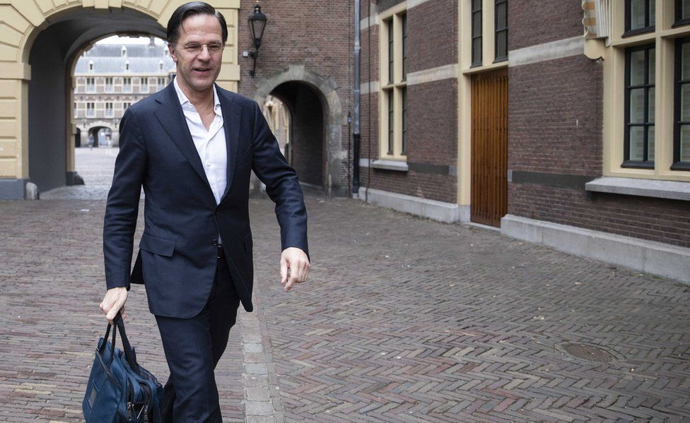 Mark Rutte was back at work hours after his narrow survival in a vote of no confidence on 2 April