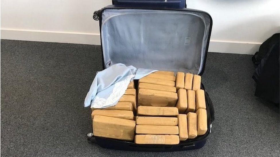 Luggage found on jet at Farnborough
