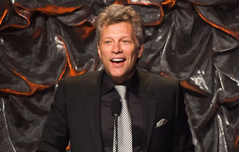 Jon Bon Jovi attends the Songwriters Hall of Fame Awards in New York. Bon Jovi has joined forces with Paul McCartney, Sheryl Crow and Fergie to record a song about climate change.