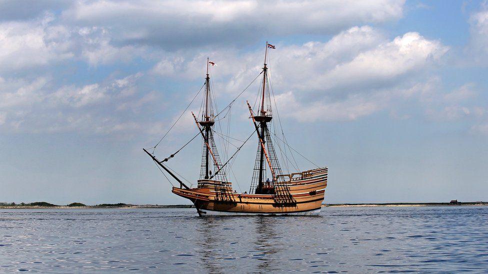 The Mayflower II replica vessel