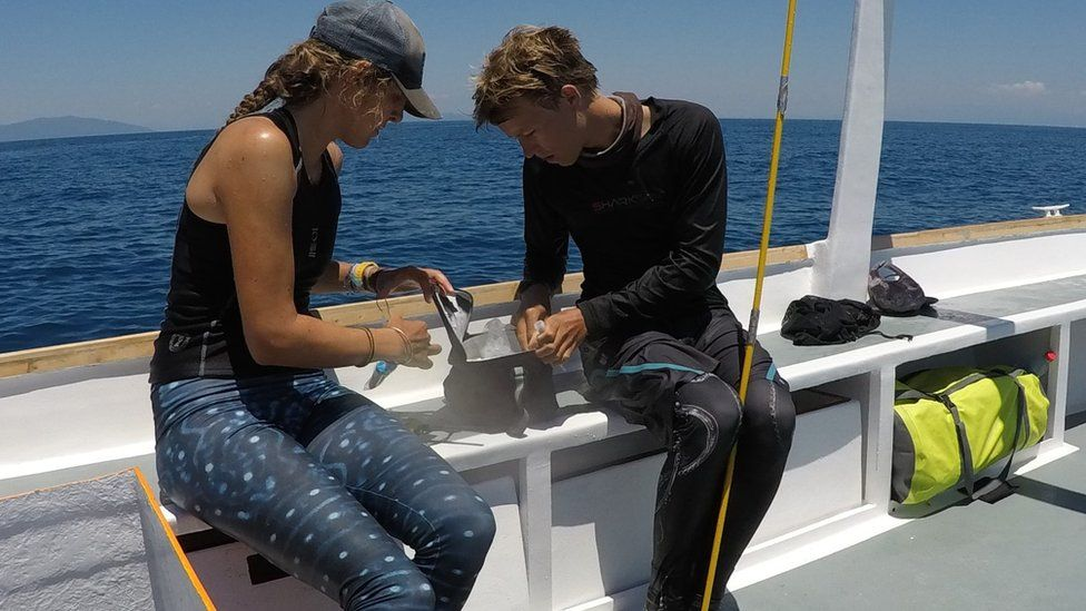 Stella Diamant on the research boat