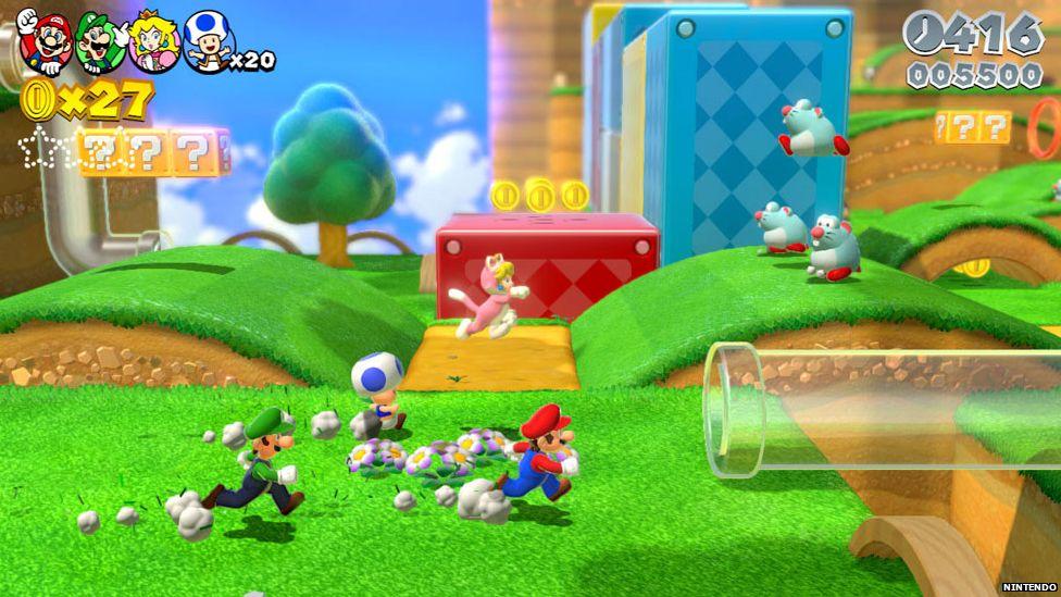 Mario WiiU gameplay