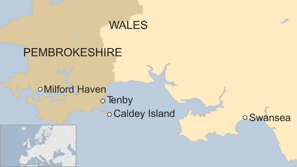 Map of Caldey