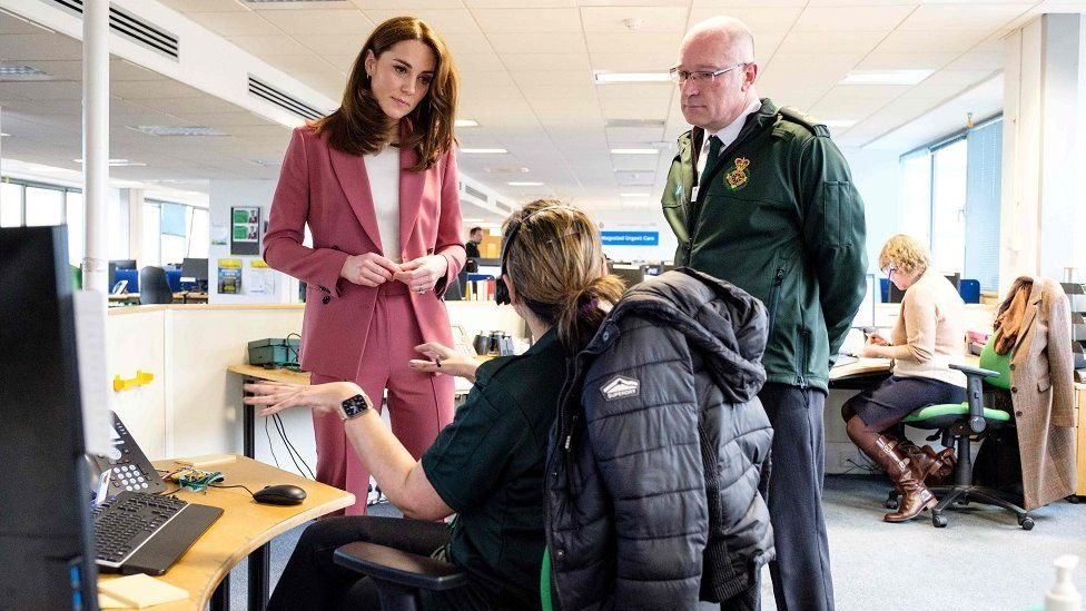 The Duchess of Cambridge with the CEO of the London Ambulance Service