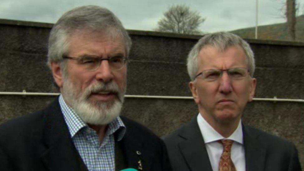 Gerry Adams and Máirtín Ó Muilleoir