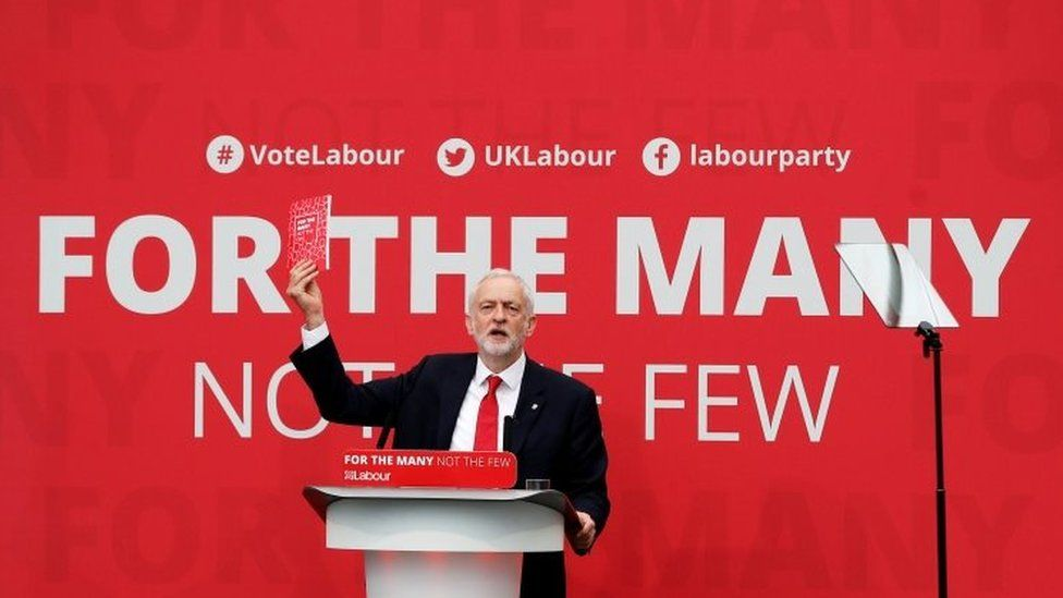Labour leader Jeremy Corbyn during the 2017 election campaign