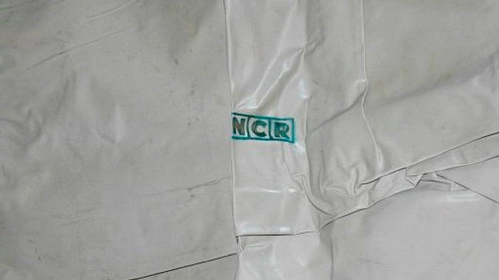 NCR sheet used to cover the body