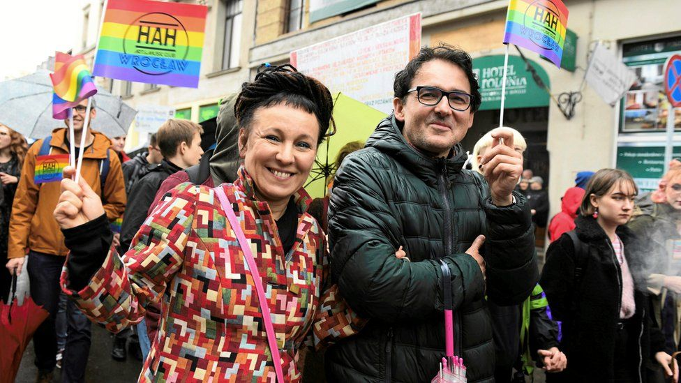 Tokarczuk took part in an equality march in Wroclaw, Poland, at the weekend