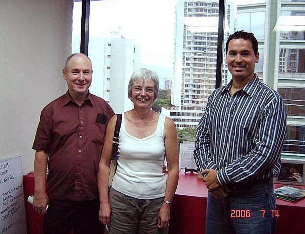 John and Anne Darwin were spotted in a photograph taken in Panama