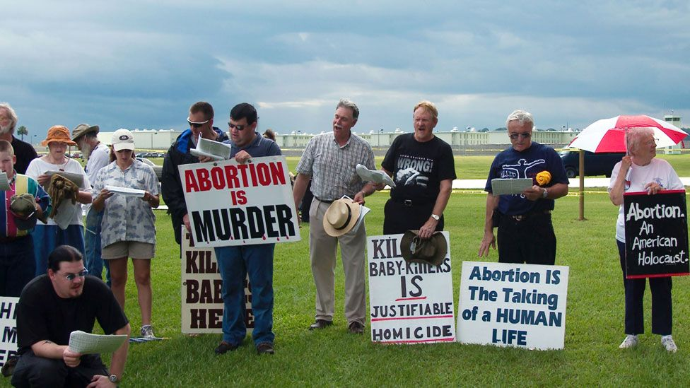 Anti-abortion protesters in Florida