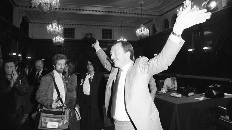 Ken Livingstone, leader of the Greater London Council (GLC), London, 21 September 1984