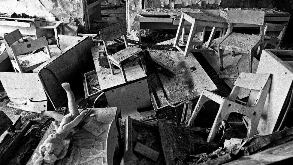 Abandoned kindergarten in Pripyat