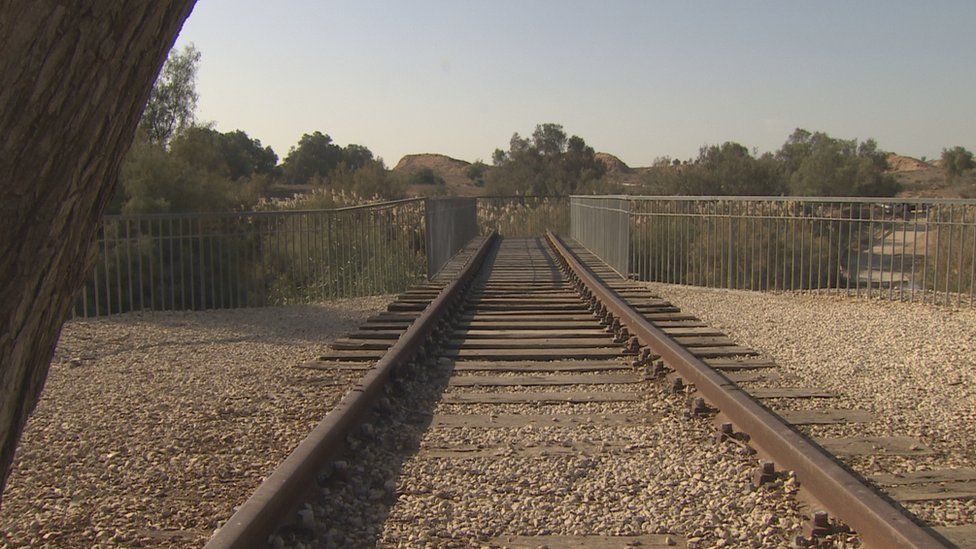 The troops laid miles of railway track each day as they advanced
