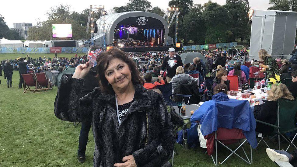 Caroline Jones at BBC Proms in the Park in Swansea
