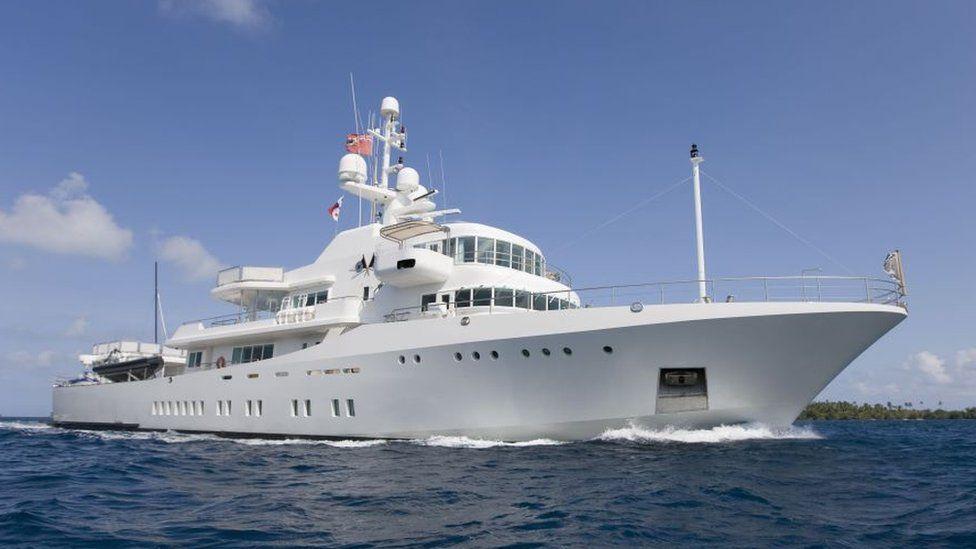 The super yacht Senses