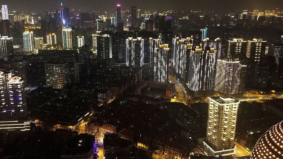 Wuhan at night.