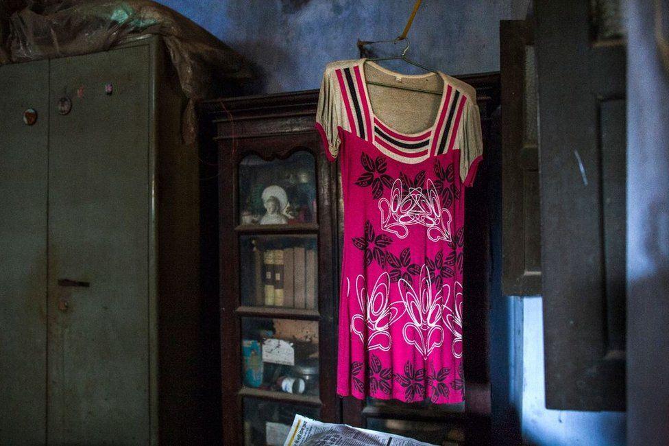 Indian pink dress