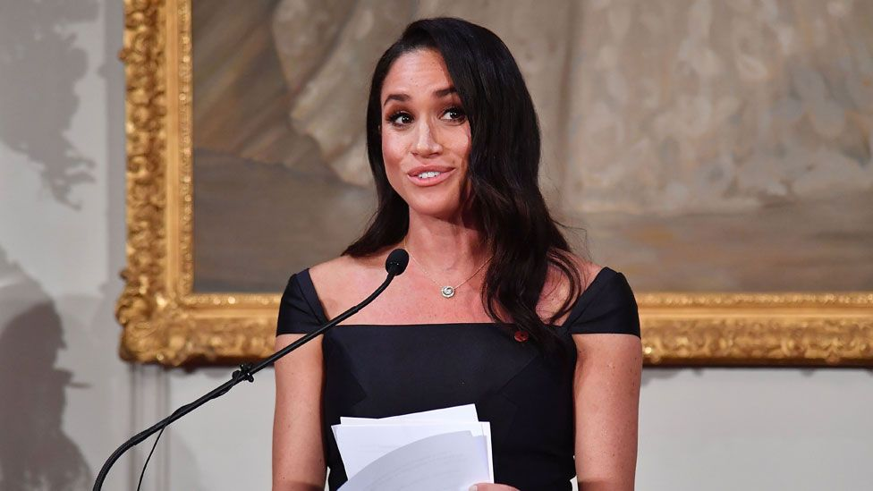 Meghan gave a speech about the importance of suffrage