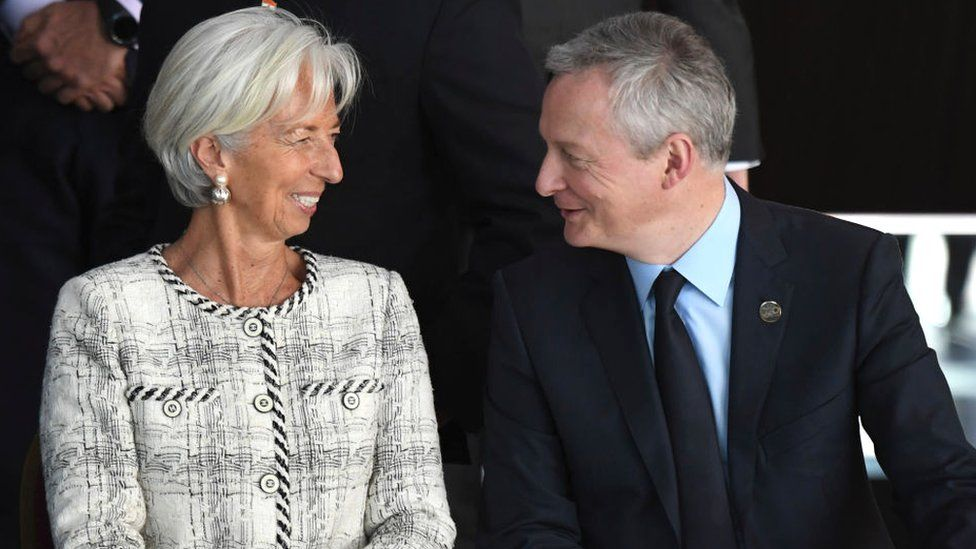 Christina Lagarde and Bruno Le Maire
