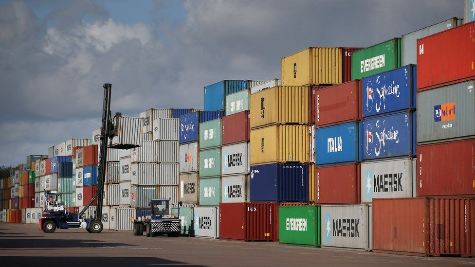 Containers at Felxstowe