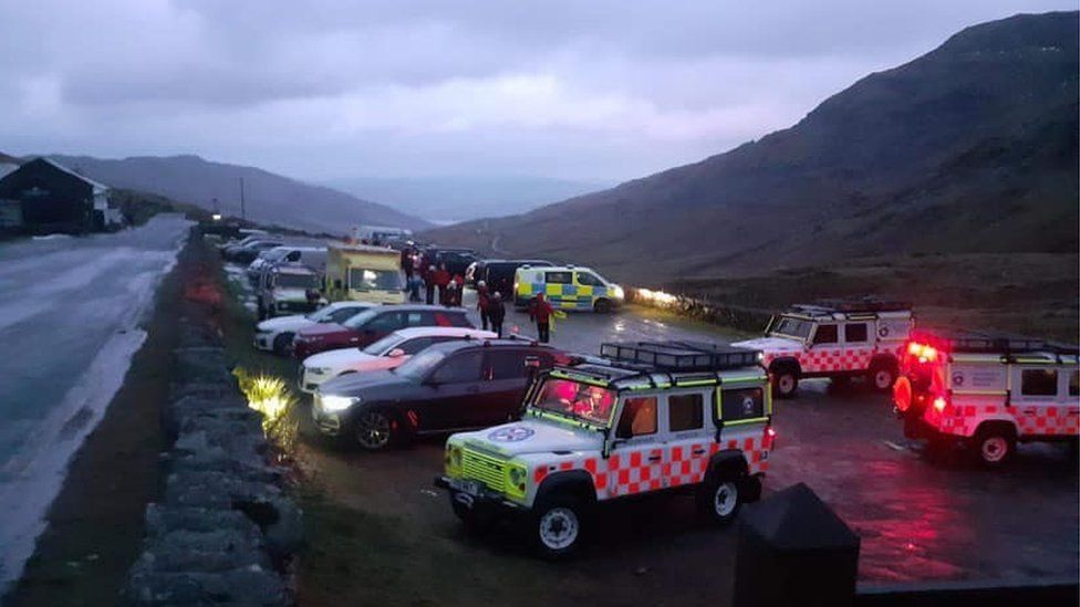Several other rescue teams came to help amid poor weather conditions