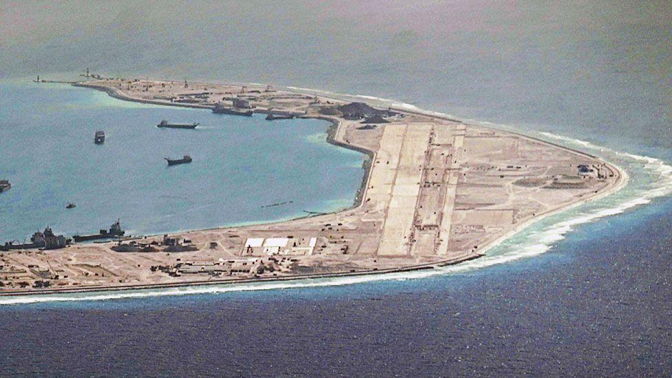 The runway on Mischief Reef