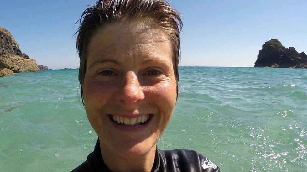 Lizzi Larbalestier in the sea