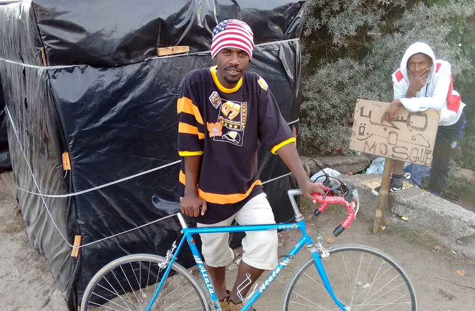 Mustapha with his bike