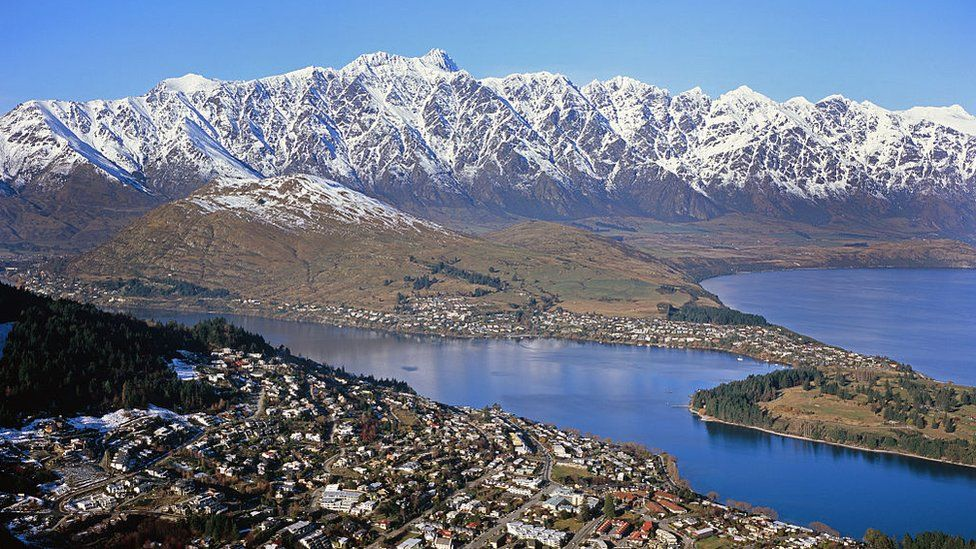Queenstown from the air.