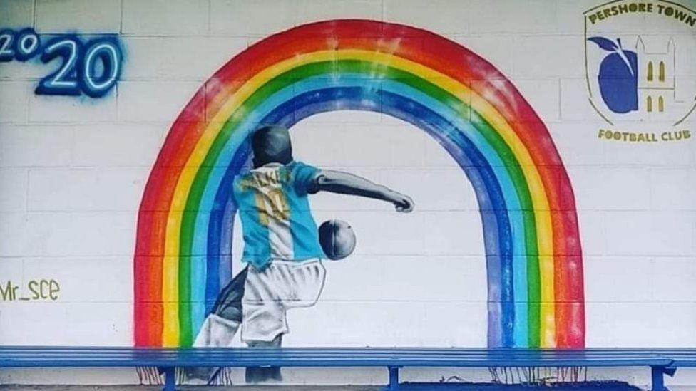 Pershore Town mural