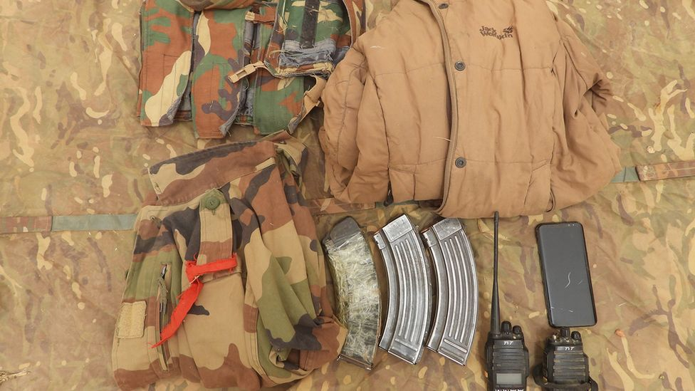 Camouflage clothing and radios