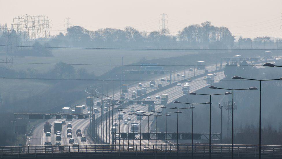 File picture of UK motorway traffic