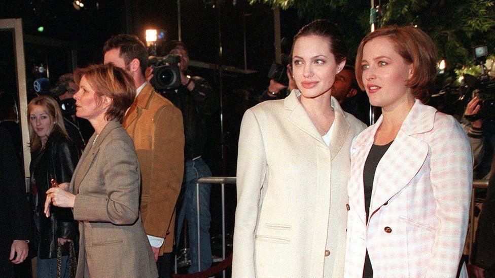 Angelina Jolie and Gillian Anderson
