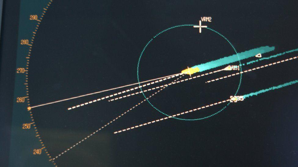Radar monitoring suspect vessels