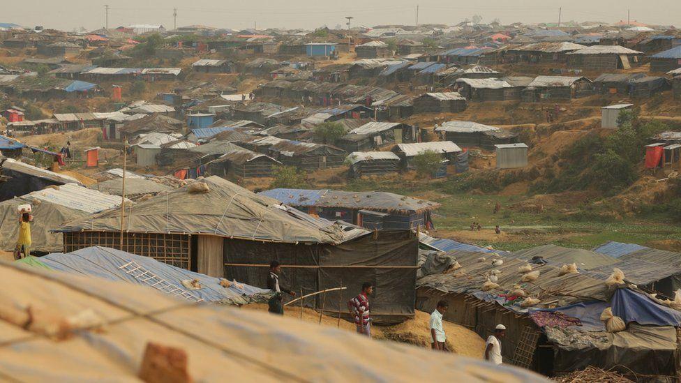 the Kutupalong refugee camp near Cox's Bazar, Bangladesh