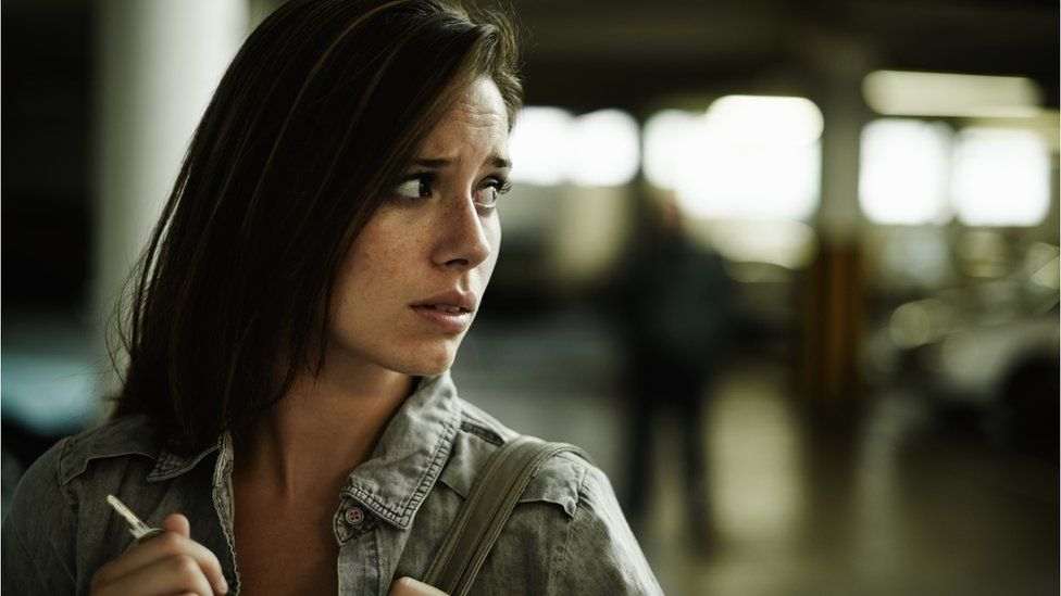 Distressed female