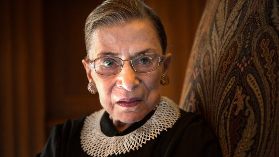 A portrait of Supreme Court Justice Ruth Bader Ginsburg