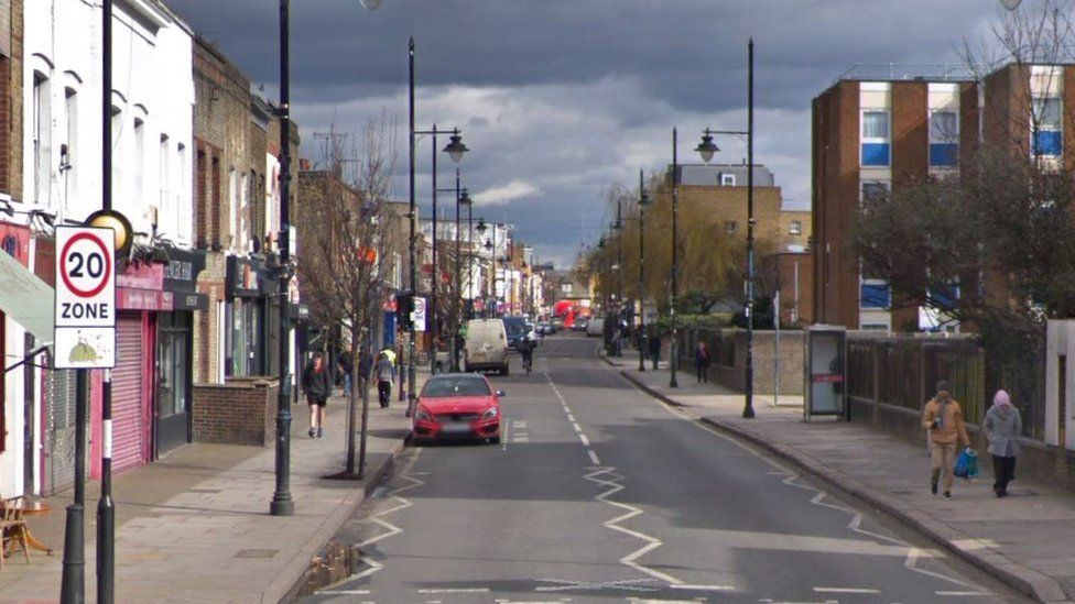 A streetview of Roman Road, Tower Hamlets