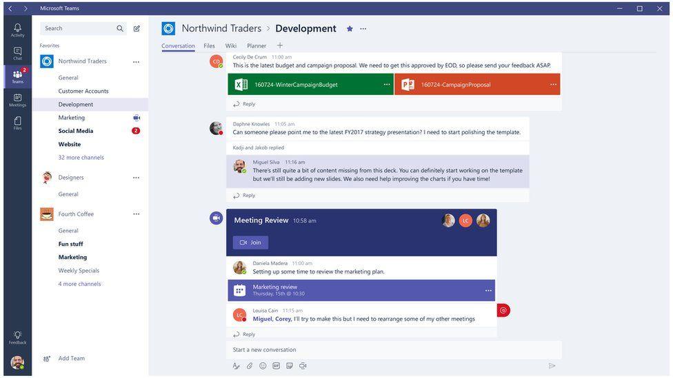 Microsoft Teams software