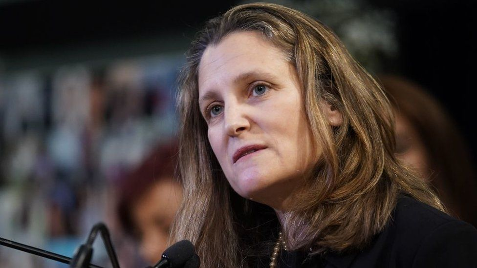 Canadian Deputy Prime Minister and Finance Minister Chrystia Freeland