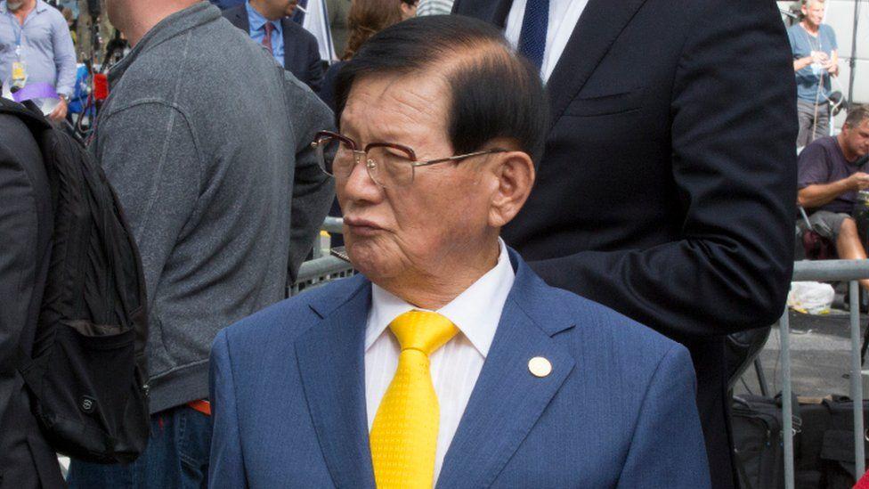 Shincheonji founder Lee Man-hee. File photo