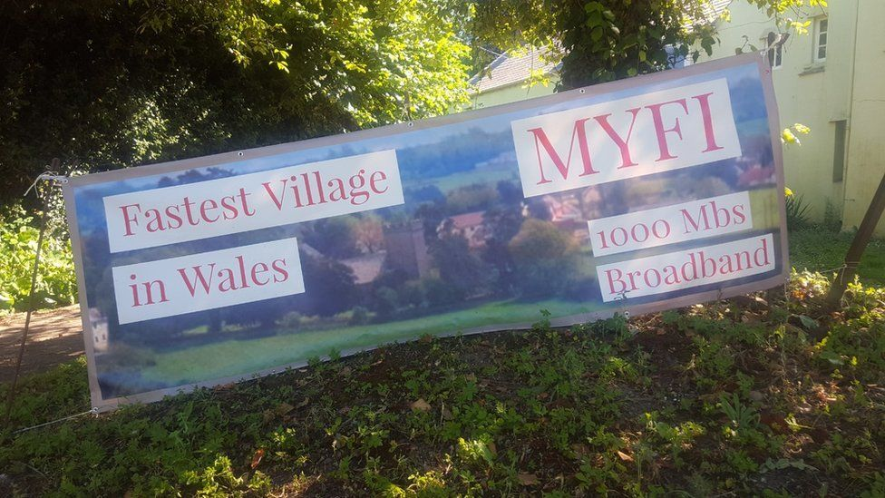 Sign at the start of the village